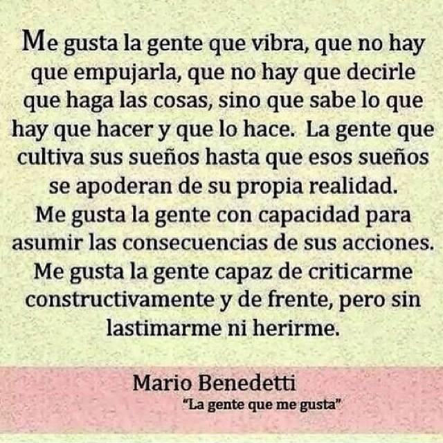 La Gente Que Me Gusta Mario Bendetti