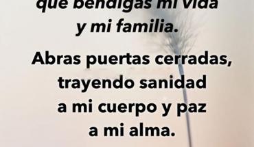 Padre vengo a pedirte de todo corazón que bendigas mi vida y mi familia