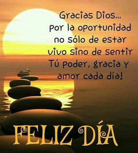 Gracias Dios... por la oportunidad no sólo de estar vivo sino de sentir Tú poder, gracia y cada día
