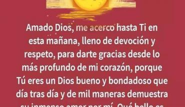 Oración Del Día: Amado Dios, me acerco hasta Ti en esta mañana, lleno de devoción y respeto