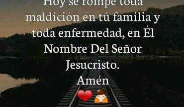 Hoy se rompe toda maldición en tú familia y toda enfermedad, en El Nombre Del Señor Jesucristo. Amén.