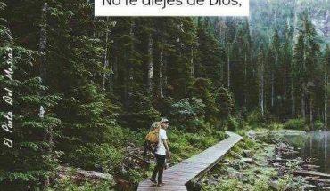 No te alejes de Dios, aléjate de quien te quiera separar de El.