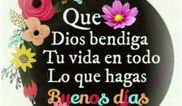 Que Dios te bendiga en todo lo que hagas, Buenos Días!