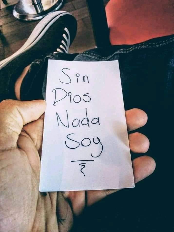Sin Dios nada soy