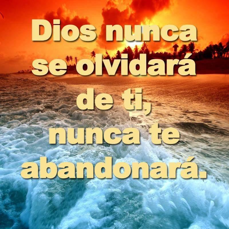 Dios nunca se olvidará de ti, nunca te abandonará
