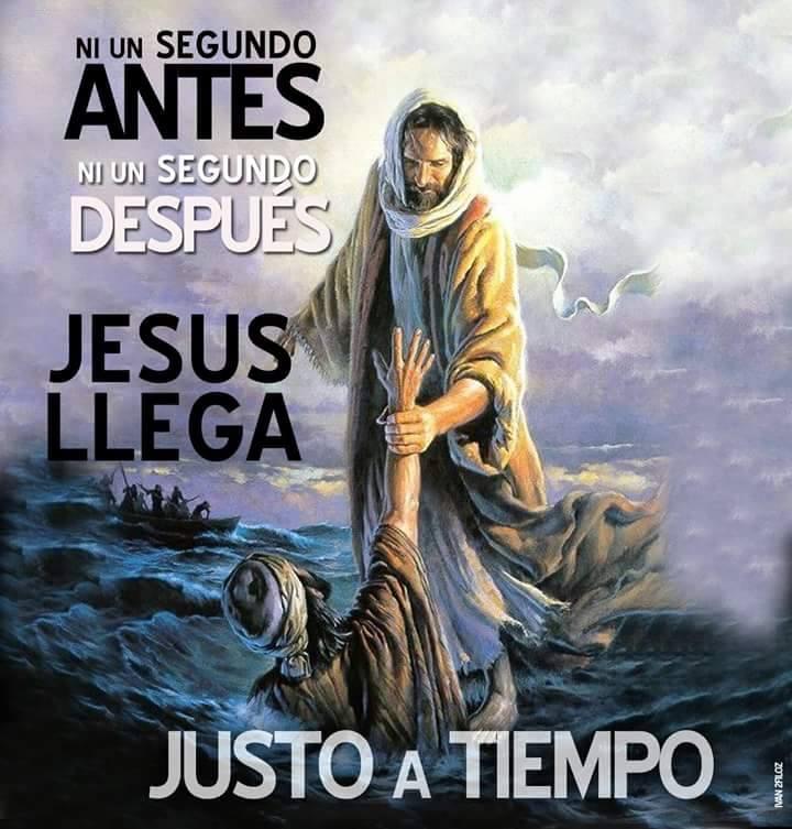 Jesús llega justo a tiempo
