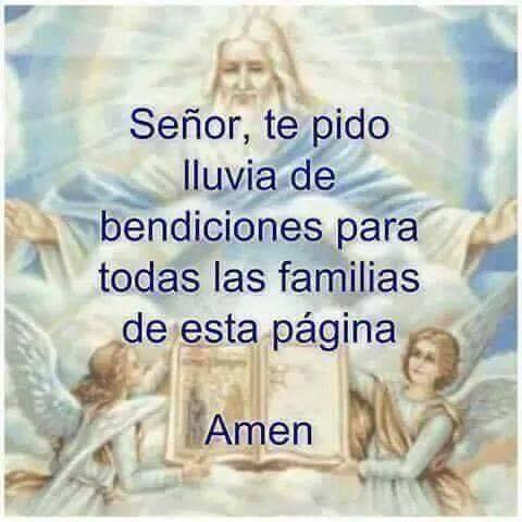 Señor, te pido lluvia de bendiciones para todas las familias de esta pagina. Amén.