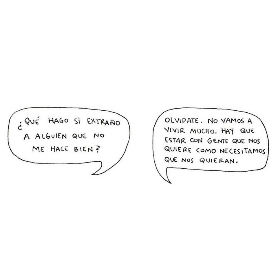 Que hago si extraño a alguien que no me hace bien?
