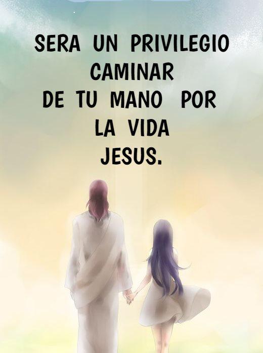 Sera un privilegio caminar de tu mano por la vida Jesús