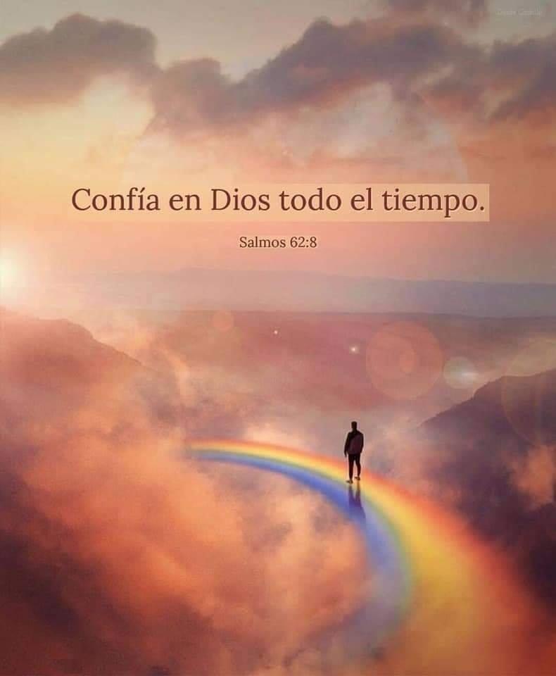 Confía en Dios todo el tiempo. Salmos: 62:8