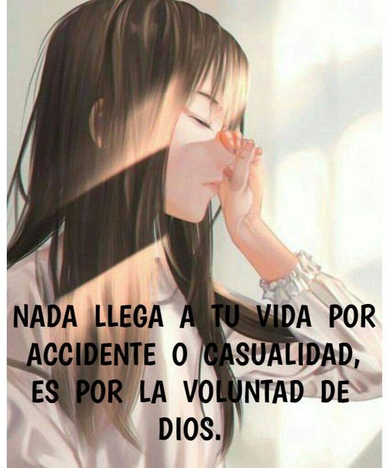 Nada llega a tu vida por accidente o casualidad, es por la voluntad de Dios