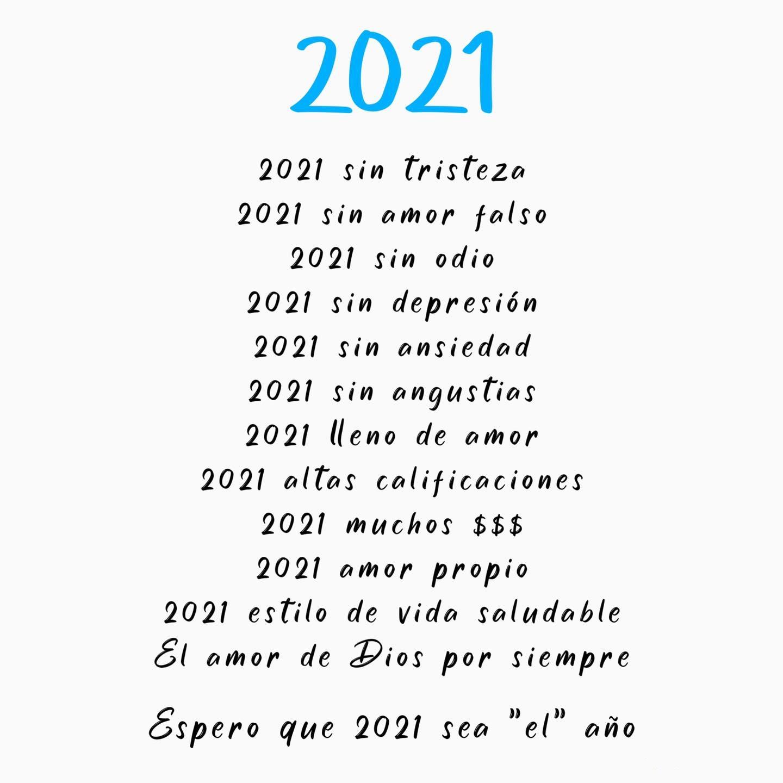 Espero que 2021 sea el año