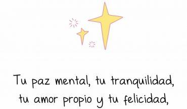 Tu paz mental, tu tranquilidad, tu amor propio y tu felicidad, dependen de ti