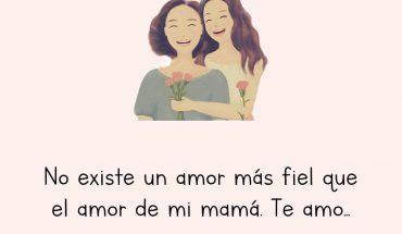 No existe un amor más fiel que el amor de mi mamá. Te amo...