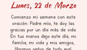 22 de Marzo Comienzo mi semana con esta oración