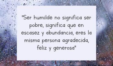 Ser humilde no significa ser pobre