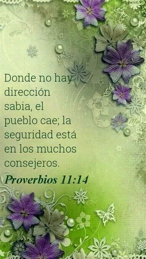 Donde no hay dirección sabia, el pueblo cae, la seguridad esta en los muchos consejeros. Proverbios 11:14