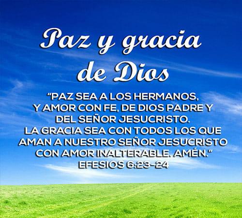 Paz y gracia de Dios