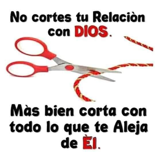 No cortes tu relación con Dios. Más bien corta con todo lo que te aleja de Él