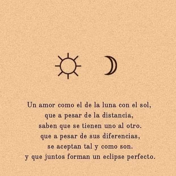 Un amor como el de la luna con el sol