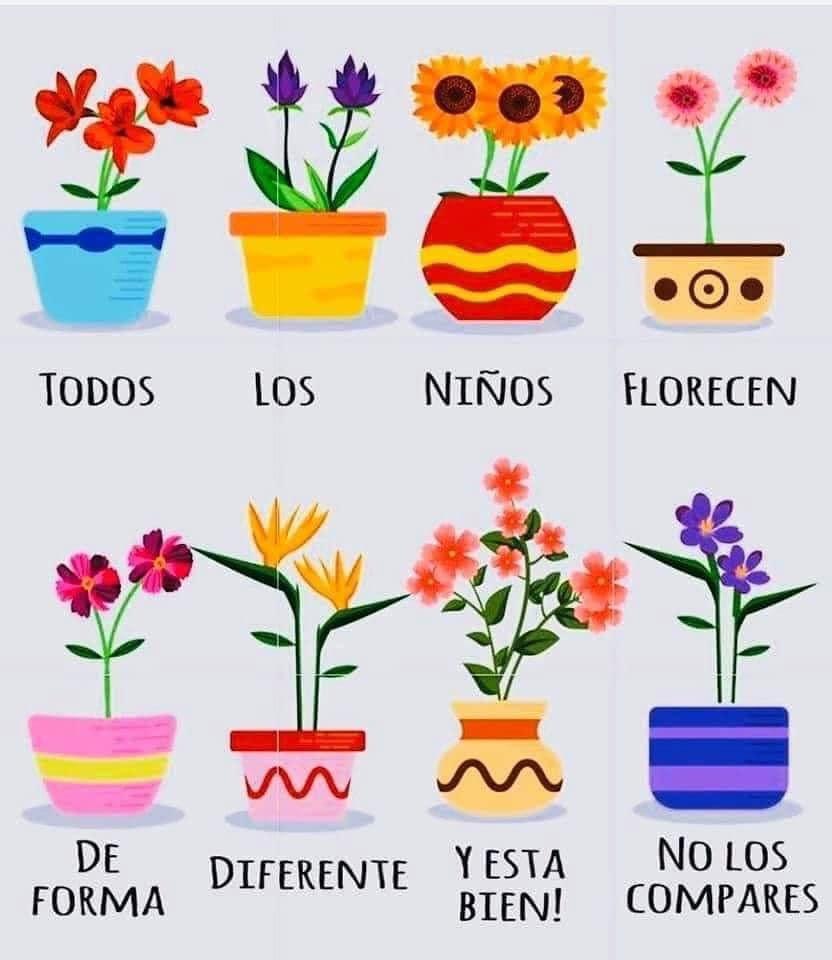 Todos los niños florecen de forma diferente